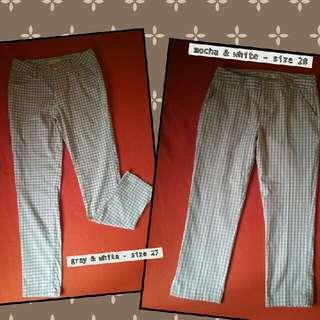 trendy gingham pants