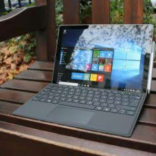 kredit laptop microsoft surface pro 4 core i5 Ram 8gb HDD 256 SSD