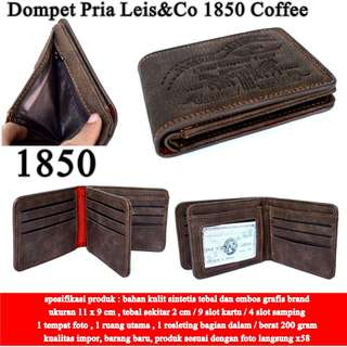 Dompet Pria Leis&Co Leather 1850 COFFE