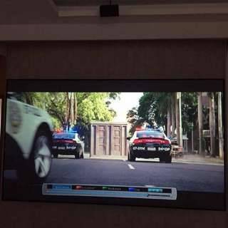 Home Theater Black Crystal Screen 100 inch