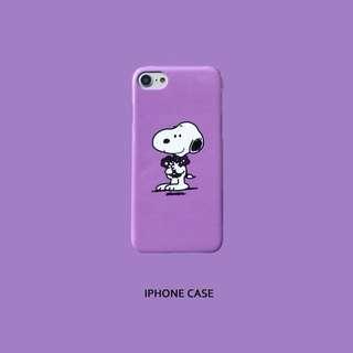 🚚 預購 史努比熱門粉嫩紫色iPhone 6/7/8/x 殼