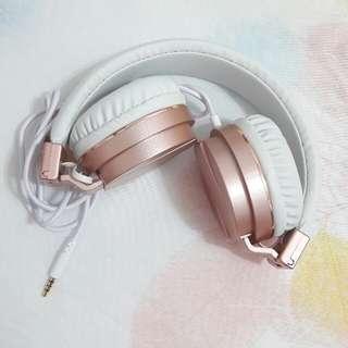 🚚 玫瑰金 耳罩式耳機