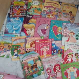 18 stickers story books (preloved)