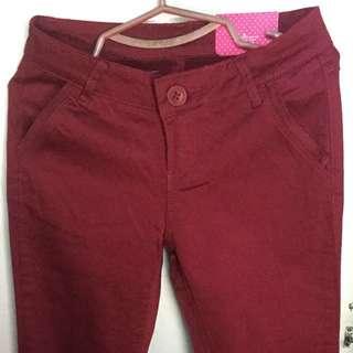 Crissa Maroon Jeans