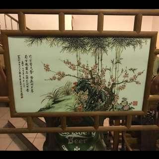 王鹤亭瓷板画