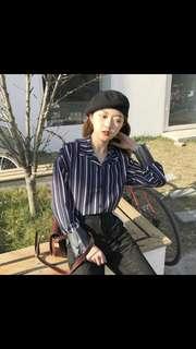 (PO) korean ulzzang Striped Shirt