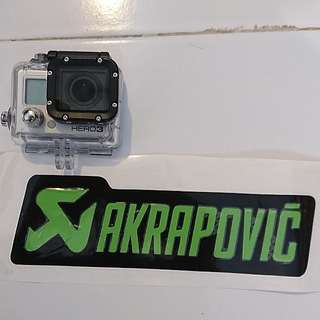BNEW AKRAPOVIC STICKER (GREEN)