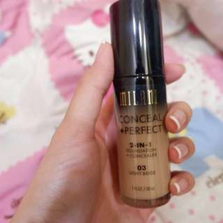 Milani - Conceal Perfect 2 in 1 Foundation Shade 03 Light Beige