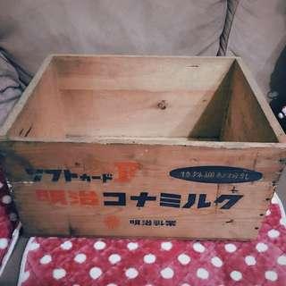 「早期日製木箱」  早期 古董 復古 懷舊 稀少 有緣 大同寶寶 黑松