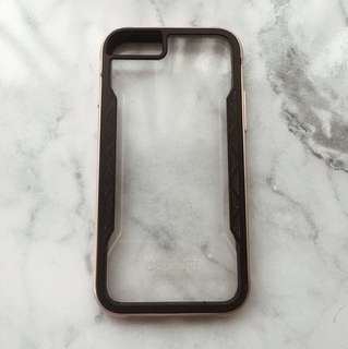 iPhone 6s Rose gold/black Clear Case