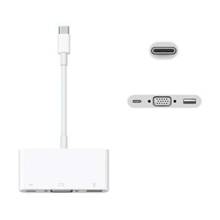 Apple USB-C VGA Multiport 轉換器, 99% New , Used ONLY once!!