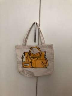 Balenciaga print tote bag
