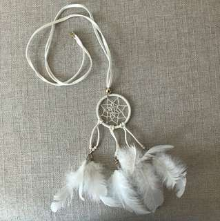 ASOS White Dreamcatcher Necklace