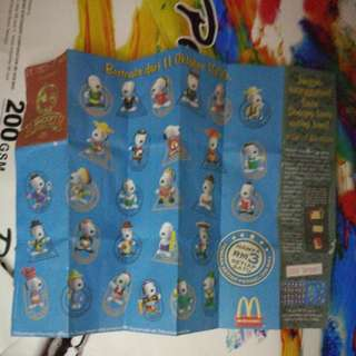 1999 mcdonald snoopy FULL collection