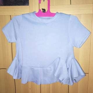 Baju biru wanita bagus bahan scuba