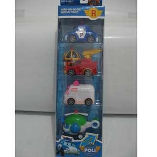 Mainan ROBOCAR POLI Set 4pc P3