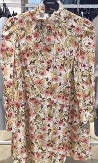 Topshop collection floral print dress