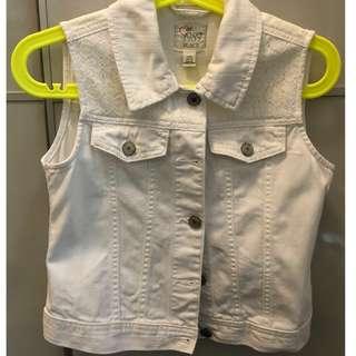 Girl's jean vest