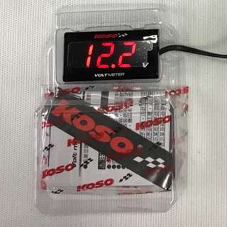 KOSO VOLT METER SUPER SLIM RED OR BLUE