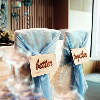 Better Together wedding chair signs