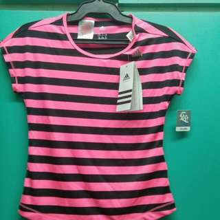 Adidas Small Pink Striped shirt