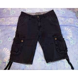 BELUOMO Dark 6 Pocket Cargo Shorts