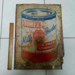 Dumex Tin Sign Vintage 1