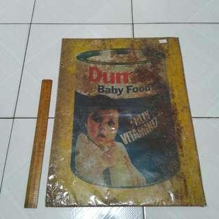 Dumex Tin Sign Vintage 2