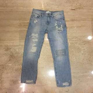Boyfriend ripped jeans mango