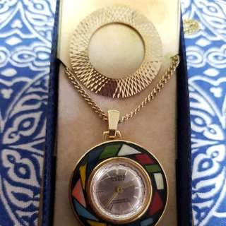 Antique necklace watch