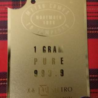 Gold plated mint Mrt card