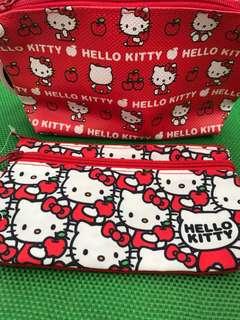 (2pcs) hello kitty pouch