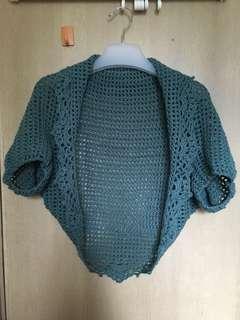 New handmade crochet top/shawl 全新手工鈎織短袖上衣/披肩
