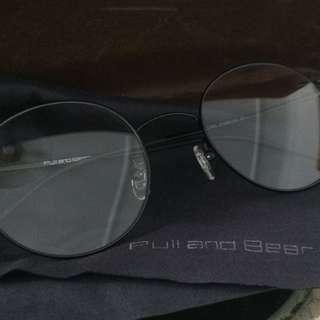 Eyeglasses spectacles vintage black matte minimal
