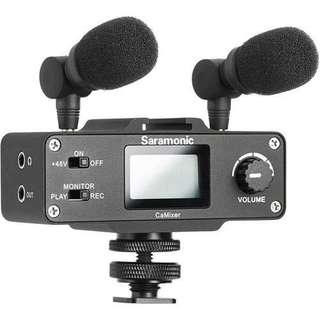 Saramonic CaMixer Microphone Kit with Dual Stereo Condenser Mic
