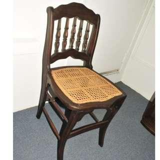 Authentic Burma Teak Wood Antique Colonial Chair