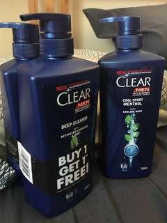 Clear Hair Shampoo 3 for $15