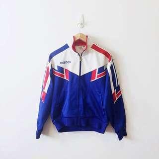 Adidas 3 Stripes Full Zip Front Pocket Track Jacket