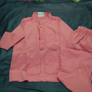 'pink' Baju melayu kanak-kanak