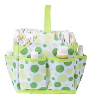 Autumnz Portable Diaper Caddy (Light Green)