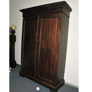 Authentic Burma Teak Wood Antique Colonial Wardrobe