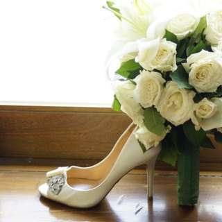 Badgley Mischka Bridal Shoes Size 7