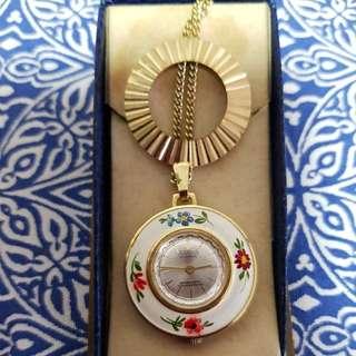 Antique necklace watch