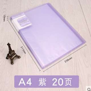 A4 File 20 Pockets