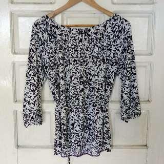 Violet printed blouse