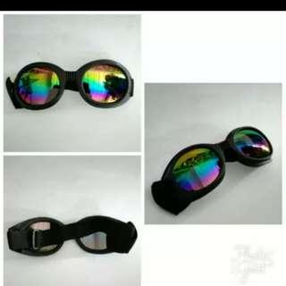 Retro chip riding goggles rainbow