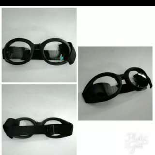 Retro chip riding goggles clear
