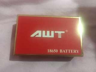 2 pcs AWT 18650 battery brand new