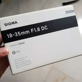 Sigma 18-35mm F1.8 DC Art Lens (Canon mount)