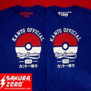 Pokemon Kanto Gym Leader  anime t shirt